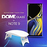 Dome Glass Galaxy Note 9 Screen Protector Tempered Glass, Full 3D Curved Edge Screen Shield [Liquid Dispersion Tech] Easy Install Kit by Whitestone for Samsung Galaxy Note 9 (2018) - 1 Pack from Dome Glass