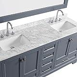 "LUCA Kitchen & Bath LC72JGW Chole 72"" Double Sink"