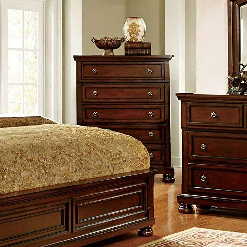 247SHOPATHOME Bedroom set, Queen, Cherry
