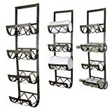 4 Bottle Wall Mounted Metal Wine Rack, Towel Rack For Sale