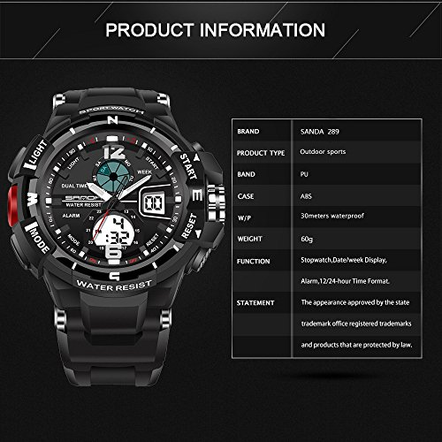 Mens-Analog-Digital-LED-Electronic-Waterproof-Outdoor-Sport-Watch-Military-Multifunction-Casual-Dual-Display-12H24H-30M-Water-Rsistant-Stopwatch-Calendar-Day-Date-Black