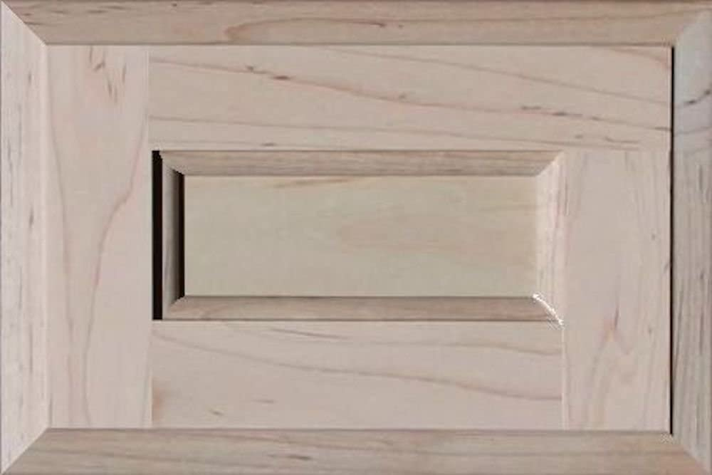 8H x 31W Unfinished Maple Drawer Front Square with Raised Panel by Kendor