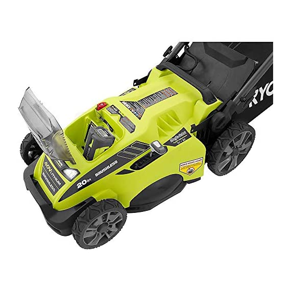 "Ryobi RY40180 40V Brushless Lithium-Ion Cordless Electric Mower Kit, with 5.0Ah Battery, 19.88"" x 40.748"" x 22.677"" 3 Grounds & Pool Supplies/Outdoor Power Equipment Made in: United States Dimensions: 19.88 X 40.748 X 22.677"