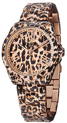 - SO&CO New York Women's 5008.2 SoHo Animal-Print Stainless Steel Watch with Link Bracelet