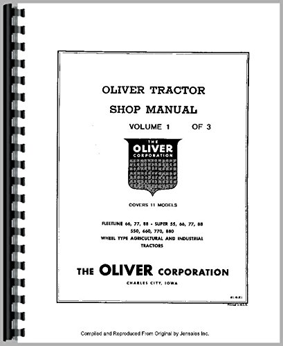 Download Oliver Super 66 Tractor Service Manual ebook