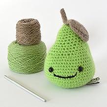 DIY Kit Crochet,Luxury Smiley Pear Amigurumi Crochet Kit,DIY Kits Crochet