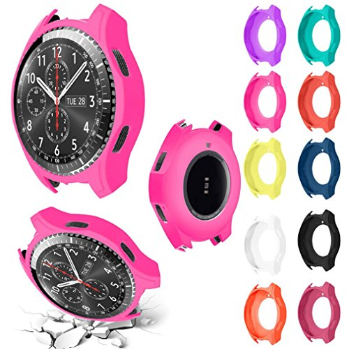 Greatgiftlist Watch Protect Case Cover Shock-Proof and Shatter-Resistant Watch Protector Frame for Samsung Gear S3 Frontier (10 pc Color)