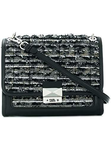 Sac porté épaule pour femmes Karl Lagerfeld 86kw3073999 Cuir Noir
