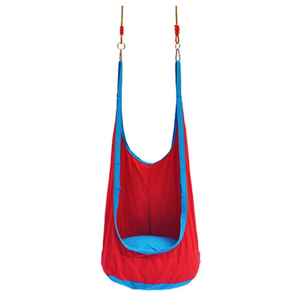 liruipengハンモックgwdJハンモック子供Hanging Chair Cradles for College Students '寮インドアとアウトドアLazy People Literary Rocking Chairスイング B07DHBSYF2  レッド
