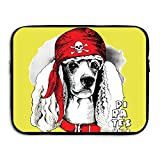 Computer Bag Laptop Case Slim Sleeve Creative Dog In Hat Waterproof 13-15in IPad Macbook Surfacebook