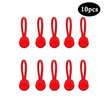 Kitchen-dream Clips de cable magnéticos, enrollador de auriculares ...