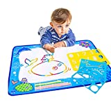 Water Drawing Mat Water Painting Drawing Writing Board Toy + Magic Pen for Baby Kids Gift 27.5*20 Inches Blue