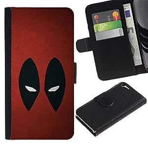 KLONGSHOP // Tirón de la caja Cartera de cuero con ranuras para tarjetas - Resumen de araña Superhéroe - Apple Iphone 5 / 5S //