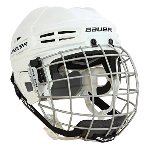 Bauer IMS 5.0 Helmet Combo, White, Medium
