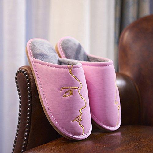Ladies térmica Zapatillas Casual antideslizante y resistente al agua zapato de varios colores, rosa, large