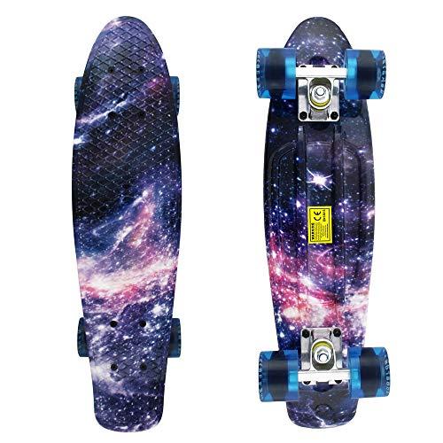 Skateboards-Complete-22-Inch-Mini-Cruiser-Retro-Skateboard-for-Kids-Boys-Youths-Beginners
