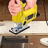 Utheing 800W Handheld Jig Saw 6 Speed Laser LED Lights Electric Jig Saws with Portable Plastic box 1.8M Cable Length