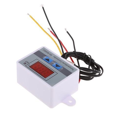 MagiDeal Interruptor de Control de Termóstato Regulador de Temperatura Llevado Digital 220v Con Punta de Prueba