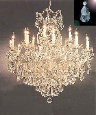 Amazon.com: Maria Theresa araña de vidrio iluminación ...