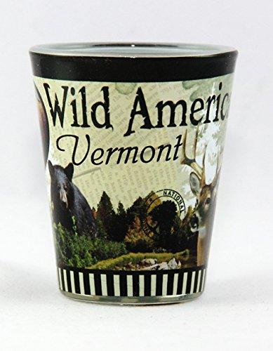 Vermont Wild America Wilderness Sublimation Shot Glass