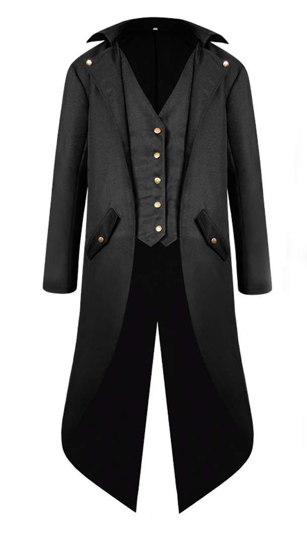 MasaRave Mens Steampunk Tailcoat Vintage Victorian Jacket 3