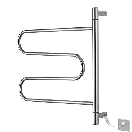 LJP Toallero calefacción termostático Cuarto de baño Curvado Calentador de toallero calienta Toallas radiador 304 Acero