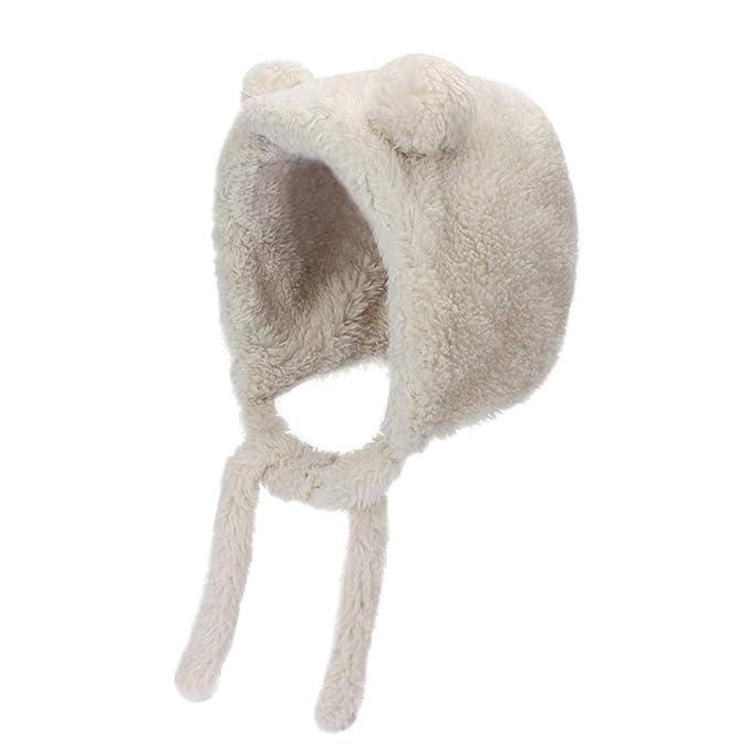 MK MATT KEELY/® Cute Fleece Lining Unisex Baby Hats with Ears Winter Warm Toddler Beanie for 0-15 Months