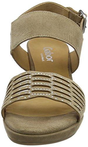Gabor Shoes 62.393, Sandalias de Tacón Mujer Marrón (Walnut A.OBL 43)