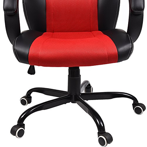 Elecwish Pu Leather Mesh Gaming Chair Racing Style High