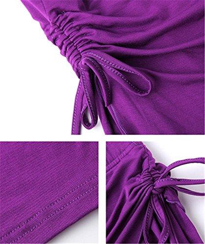 confortable danse formation de de Pantalon violet pantalon yoga de de fente de danse pantalon de de ventre ventre UdzHqw