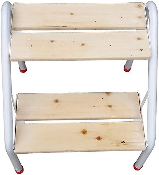 XITER-Taburete Escalera, Taburete de Paso Hierro y Madera Taburete de Escalera de 2 escalones Escalera Silla Soporte de Flores Estante Cambio de Zapatos Taburete: Amazon.es: Hogar
