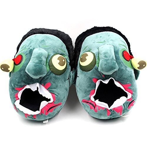 Ea @ Marché Dessin Animé Créatif Zombie Hiver Pantoufles En Peluche De Coton