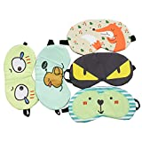 WEFOO 5 PCS Cute Sleep Eye Masks for Bedtime, Naps, Travel