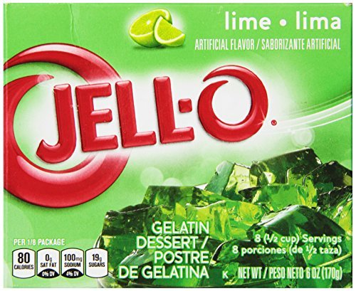 JELL-O Gelatin Dessert, Lime, 6-Ounce Boxes (Pack of 6) by Jell-O
