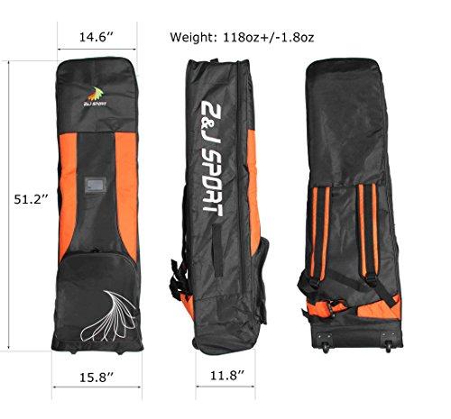 ZJ SPORT Dragon Boat Paddle Team Bag With Wheels by Z&J SPORT