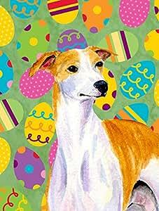 Whippet Pascua Eggtravaganza Bandera, poliéster, Multicolor, grande