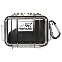 Pelican  1010-025-100 Micro Case with Clear Lid and Carabineer (Black)