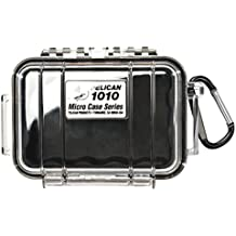 Waterproof Case | Pelican 1010 Micro Case - for cell phone, GoPro, camera, and more (Black/Clear)