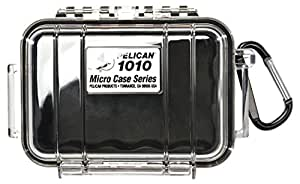 Pelican 1010 Micro Case, Black with Clear Lid