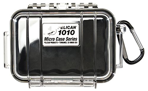 Waterproof Case | Pelican 1010 Micro Case - for cell phone, GoPro, camera, and more (Black/Clear) by Pelican