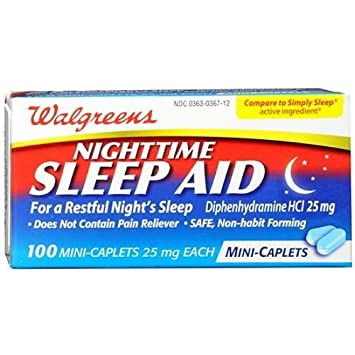 Amazoncom Walgreens Nighttime Sleep Aid Mini Caplets 100 Ea