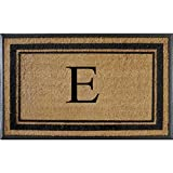 First Impressions Markham Border Double Door, Doormat, Monogrammed E, X-Large