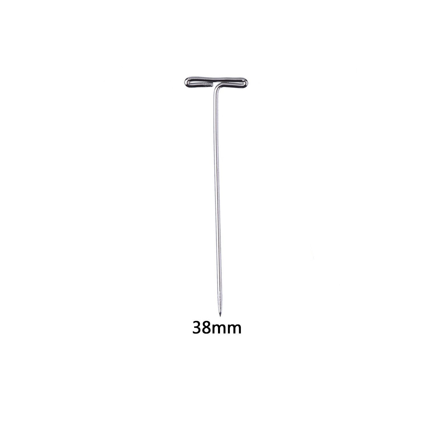 Grosun 400pcs 38mm//1.5inch Stainless Steel T-Pins Sewing Pins for Knitting and Blocking