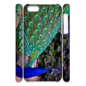 ANCASE Customized 3D case Peacock for iPhone 5C