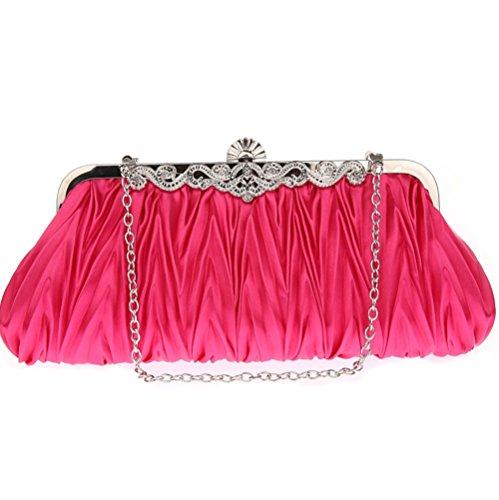 Fashion Messenger bag Women's evening Elegant bag ZYXCC bag red SHISHANG bag Luxury evening Plum nfxz8WvA