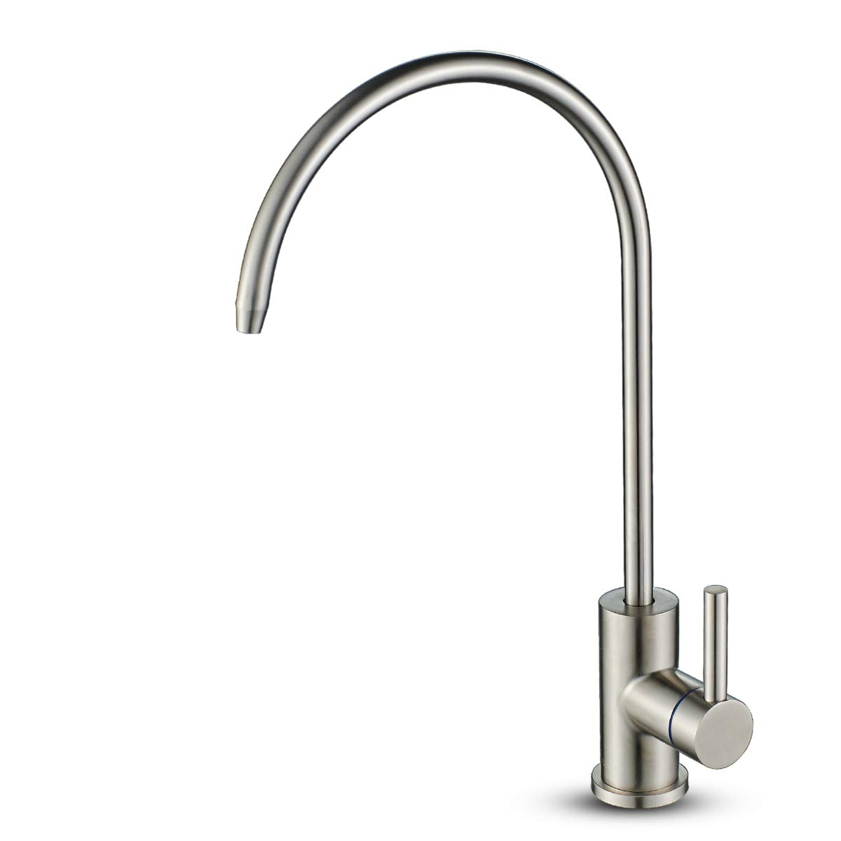 ROVOGO Water Filter Purifier Faucet, Lead-Free Drinking Water Faucet for Water Filtration, Stainless Steel Kitchen Bar-Prep Faucet, Non-Air Gap Cold Water Only