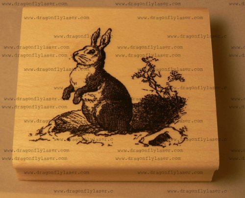 (Rabbit rubber stamp, vintage styled)