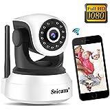 Sricam Cámara de Vigilancia, Cámara IP Wifi Calidad 1080P ,Cámara seguridad wifi Interior Inalámbrico Visión Nocturna, Audio Bidireccional, Detección de Movimiento, Compatible iOS Android Windows PC