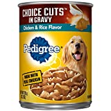 Pedigree Choice Cuts In Gravy Chicken & Rice Flavor Adult Canned Wet Dog Food, (12) 13.2 Oz. Cans