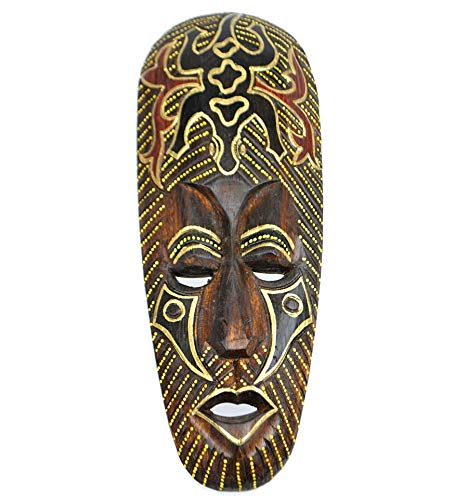 Máscara africano (madera, 30 cm), diseño de Gecko.: Amazon ...